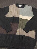 Geoffrey Beene Sweater Mens Size Large Long Sleeve Crew Neck EUC