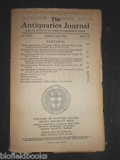 THE ANTIQUARIES JOURNAL - 1944 - Vol 24/Pt 1-2 - Exeter Cathedral Altar Screen +