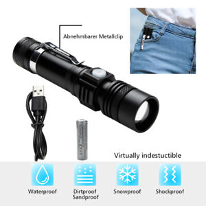 Taschenlampe LED Flashlight Fackel Zoom XML Camping klein 80000LM Militär