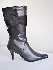 Van Dal Moritz Black Leather Kneehigh Boot Size 6 EU 39 D Fitting
