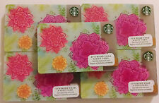 2016 ORIGINAL STARBUCKS GIFT CARDS ~SPRING FLOWER~ NO VALUE PIN# COVER LOT OF 50