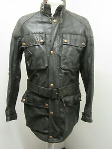 VINTAGE 70'S BELSTAFF TRIALMASTER PRO WAXED COTTON MOTORCYCLE JACKET SIZE 100CM