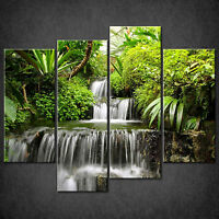 RAINFOREST WATERFALL CASCADE CANVAS WALL ART PRINT PICTURE READY TO HANG