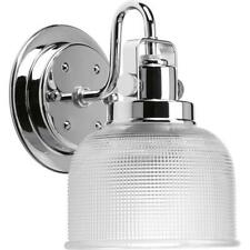 Progress Lighting Archie Collection 5.75 in. 1-Light Chrome Bath Sconce