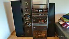 Goldstar Musikanlage mit Rack und Lautsprecher