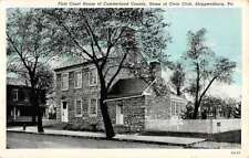 Shippensburg Pennsylvania Civic Club First Court House Antique Postcard K90732