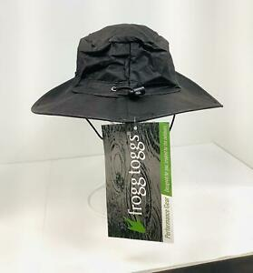 FROGG TOGGS Lightweight & Waterproof Breathable Boonie Hat- Black ,One Size