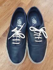 Vans Blue Leather Trainers/shoes Size Us 11 Uk 10