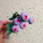 Vintage Millinery Flower 5 Bud Cluster Lilac w/Pink Center For Hat or Hair Y96a
