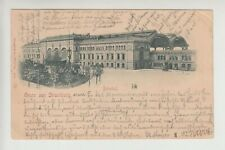 NIKOLA TESLA 's first job STRASSBURG STATION original postcard 1897