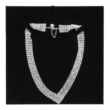Swarovski fit crystal necklace white palladium plated 5289715