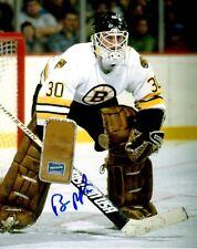 Signed 8x10 Bill Ranford Boston Bruins Photo - Coa