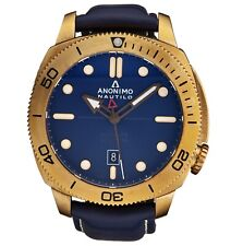 Anonimo Men's Nautilo Blue Dial Leather Strap Automatic Watch AM100104003A03