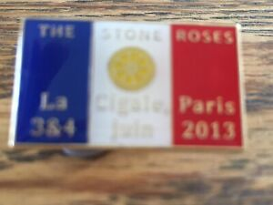 The Stone Roses - La Cigale Paris - Rare Gig Badge From 2013