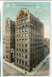 New York Life Building St Paul Minnesota 1910 postcard
