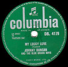 RARE JOHNNY DUNCAN & THE BLUE GRASS BOYS 78 MY LUCKY LOVE /GEISHA GIRL DB4179 M-