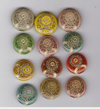 UAW CIO 1938 Complete year 12 pins