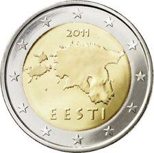3 x 2 euros Estonie 2011 2012 2017 UNC  sortie du rouleau sous sac zip