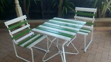 Retro Vintage Outdoor Coloured Garden Setting Table Chairs Refurbished MUST SEE