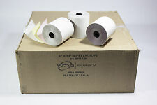 """3 """" x 65' 3 PLY WHITE/CANARY/PINK CASH REGISTER PRINTER PAPER ROLL (50)"""