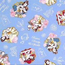Fat Quarter Beauty and The Beast Belle Brains Sparkle Cotton Quilting Fabric