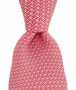 NWT Vineyard Vines Mens Mini Tees 100% Silk Golf Tie Pink MADE IN USA $85.00