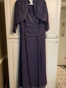Davids Bridal Mother of the Bride/ Groom dress Size 18W Lapis Color NWT