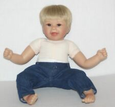 "SO TRULY REAL Ashton Drake BLAKE Boy Doll BY SHERRY RAWN 18"" Blonde Brown Eyes"