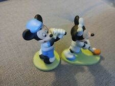 Used Mickey And Minnie Mouse Porcelain Figurine Golfers