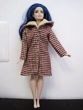 CURVY BARBIE DOLL CLOTHES/SHOES *HANDMADE COAT* SEAMSTRESS MADE  NEW*