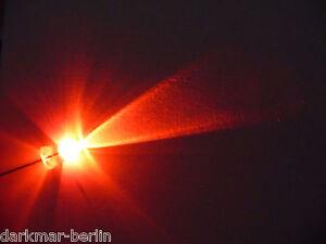 12 St. flackernde LED 5mm rot, Flackerlicht, Lagerfeuer, Kerze inkl. Widerstand