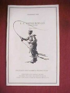 E.F. PAYNE ROD CO BAMBOO FLY ROD & TACKLE PRICE ORDER LIST