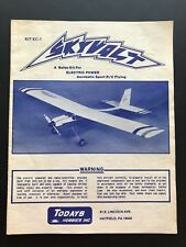 Todays Hobbies Skyvolt Balsa Model Airplane Instruction Manual Remote Control