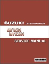 2012-2013-2014-2015 Suzuki DF15A DF20A Outboard Motor Service & Parts Manual CD