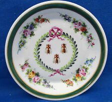 Rare Atelier Camille Le Tallec Limoges Dish Hand Painted Napoleonic Bees Signed