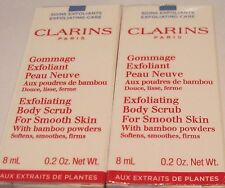 Clarins Exfoliating Body Scrub for Smooth Skin w/ Bamboo Powders Two @ .2 oz 8ml