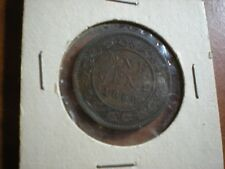 1859 Canada Copper One Large Cent Penny Circulated Canadian Coin