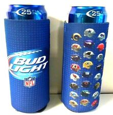 Bud Light Beer Nfl 24 / 25 oz Koozie - Set of (2) Fits Extra Ounce Cans New F/S