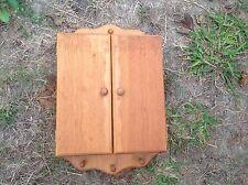 Vintage Key Box Wood Shelf Hanging Pegs Wall Art Organize Holder
