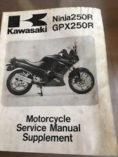 New listing Kawasaki Ninja 250 Gpx 250 R Motorcycle Service Manual 88 Ex250 F2