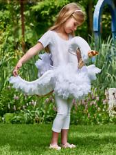 Girls White Glide on Swan Pretty Tutu Animal Fancy Dress Costume Tenue 3-8yrs