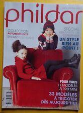 § catalogue laine tricot PHILDAR n° 23 enfant 4 à 16 ans 2009