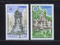 FRANCIA/FRANCE 1978 MNH SC.1609/1610 CEPT,Architecture