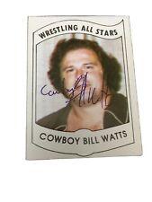 1982 Wrestling All Stars Series A Set Break #35 Cowboy Bill Watts