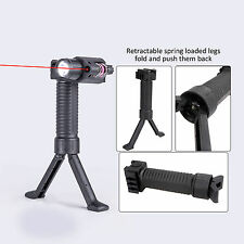 TacticalRed Laser Sight & Rifle Foldable Foregrip Bipod w/ CREE LED Flashlight