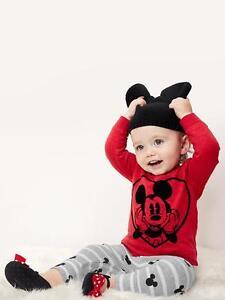 Baby Gap Girl's Disney Baby Mickey Mouse Slub Top Shirt Size 3-6 M NWT