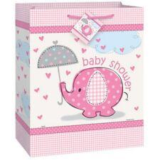 Umbrella Elephant Pink Girl Baby Shower Gift Bag