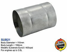 Metallic Substrate Universal Catalytic Converter 110mm 4.3'' Euro3 400cpsi SUB21