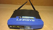 Linksys wrt54g Wireless-G Broadband Router IEEE 802.3/3u, IEEE 802.11b/g EXC PSU