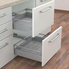 B&Q IT Kitchens Silver Effect Prestige Soft Close Pan Drawer Box System 500mm